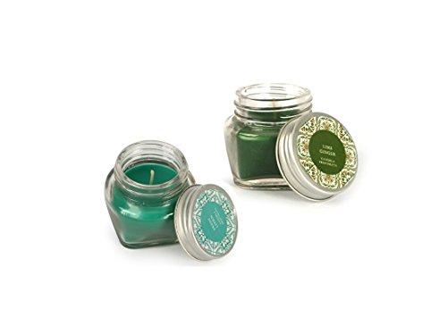 Candele profumate in barattolo di vetro 6 pz assortiti 43359 profumo luce colore