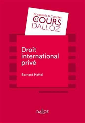 Droit international privé - 7e éd.