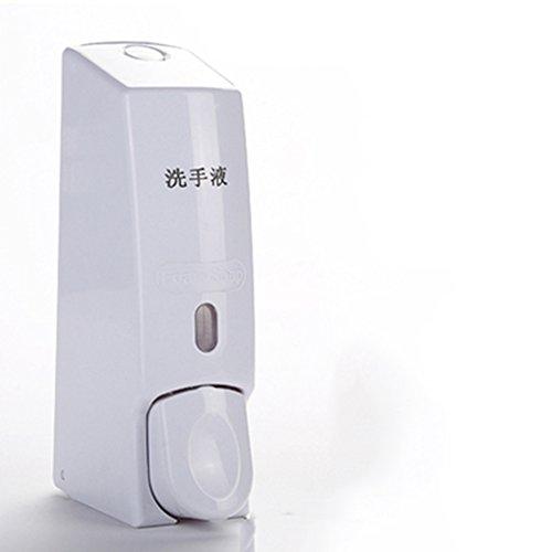 Cqq distributeur de savon Distributeur de savon à mousse manuel ménagé à la main pour le ménage Nettoyant pour les mains Ensemble de savon à main pour salle de bains à la main Bouteille à savon muraux suspendu ( Couleur : Blanc )