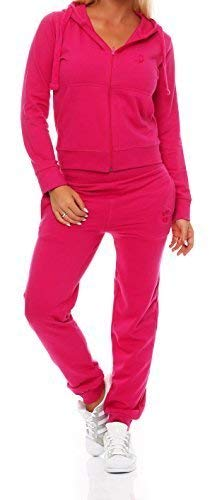 Gennadi Hoppe Damen Jogginganzug Trainingsanzug Sportanzug, pink,L