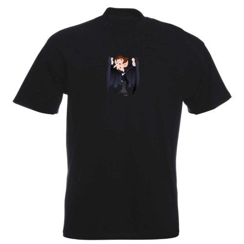 T-Shirt - Drakula 04 - Halloween - Vampir - Herren - unisex Schwarz