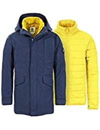 Timberland A1MZ8-TB9 Parka Uomo Fishtail 3-in-1 Blu Navy Dryvent Waterproof 637c5656803