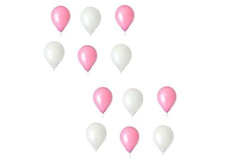 Luftballons je 25 Rosa & Weiß - ca. Ø 28cm Ballons als Deko, Party, Fest - Farbe Weiß & Rosa - Helium geeignet -