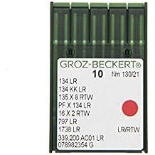 Groz-Beckert Paquete de 10 Piel de Agujas 134 LR con pistón y Redondo schneidsp