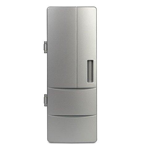 PYRUS tragbarer USB-Mini-Kühlschrank mit Kühlung und Heizung Dual-Zweck Kühlschrank auf dem Schreibtisch (Schreibtisch-kühlschrank)