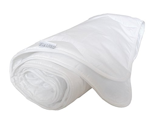 Vizaro - STEPPDECKE / BETTDECKE (100x135cm) 150g für Kinderwiege 70X140cm - Sommer und Übergangszeit, sehr frisch, Atmungsaktiv, waschbar, - 100% Baumwolle - Hergestellt in der EU mit kontrolle gegen schädlichen substanzen - SICHERES PRODUKT: das baby kann ohne risiko daran lutschen - Mondweiß