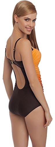 Merry Style Damen Badeanzug MS62 Braun/Orange