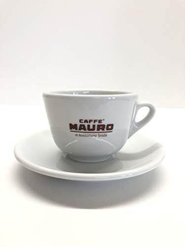 Mauro Caffé Cappuccino Tassen mit Untertasse 6er Set Cappuccino-tasse