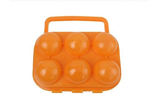 niceeshop(TM) Picknick im Freien Garten tragbare Kunststoff Eierkarton Eier Aufbewahrungsbox, zufällige Farbe