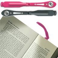 Tiny led night reading book light *Clips onto pages* (black colour) 3 Batteries included Test