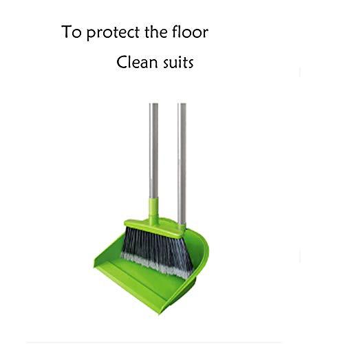TYZY Broom Kehrschaufel Set Kunststoff Gummi Material schützen Boden weiche Bürste langlebig Zahnkante Reinigungswerkzeuge für die Familie