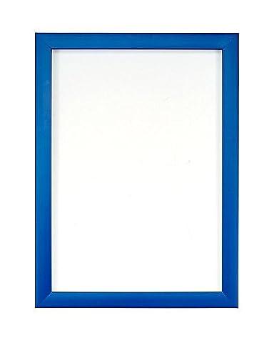 Bilder-/Photo-/Posterrahmen mit besonders klarer und bruchsicherer Perspex-Scheibe aus Styrol & MDF-Rückwand, in anderen Größen und allen Regenbogenfarben erhältlich, plastik, blau, 20,3 x 20,3 cm