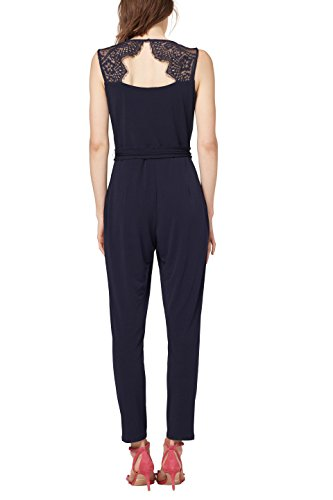 ESPRIT Collection Damen Slim Jumpsuit 058EO1L001, Blau (Navy 400),  (Herstellergröße: X-Small) - 2