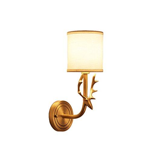 Wandleuchten Moderne minimalistische kreative Kupfer Lampen verwendet, um den Balkon Gang Eingang Innengarten Hirsch Kopf Landschaft Licht einzigen Kopf zu dekorieren