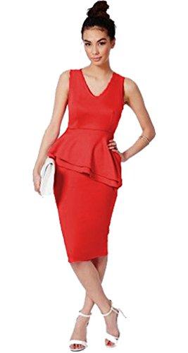 Vanilla Inc - Robe - Sans Manche - Femme noir * taille unique red