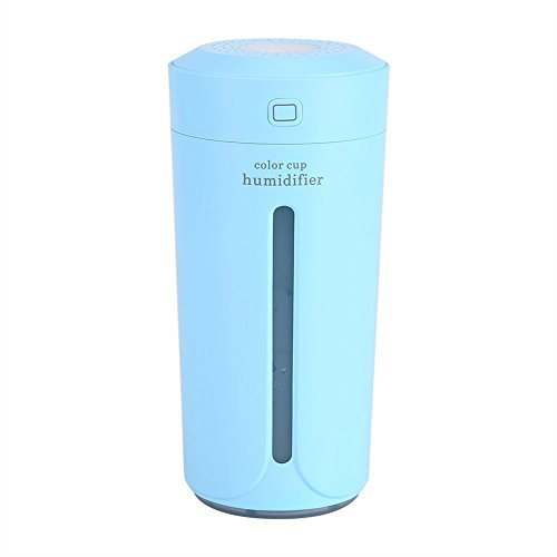 230ML Humidificador de Niebla Fría Purificador de USB 7 Luces LED de Noche de Color Cambiante para Escritorio de Oficina Dormitorio Socialme-EU (Azul)