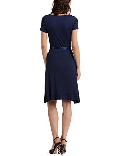 Desigual Matty - Robe - Taille empire - Imprimé - Manches courtes - Femme Bleu (Navy)