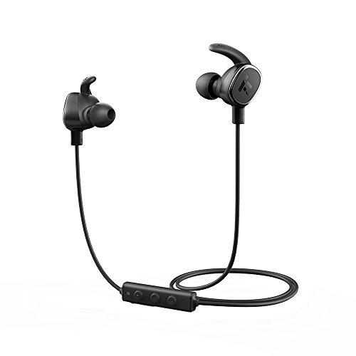Cuffie Bluetooth Magnetiche Ultraleggere, TaoTronics Auricolari Sportivi Stereo ( Bluetoohth 4.1, aptX, CVC 6.0, Microfono e Tasti di Controllo Integrati) per iPhone, Galaxy, Tablet, MP3, ecc. - Nero