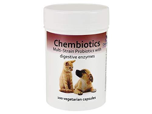 Chembiotics - Probióticos de múltiples cepas con enzimas digestivas para perros y...