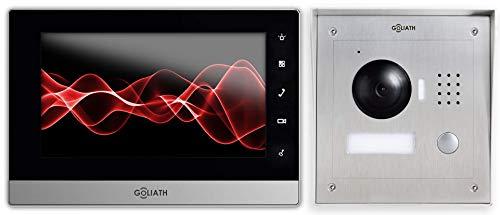 Goliath IP Türgegensprechanlage mit Kamera, Aufputz Türstation, Edelstahl, App, Türöffner, 1.3...