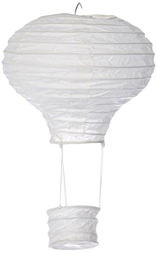 Darice cs13l1 Spring Hot Air Ballon Papier Laterne, weiß gold