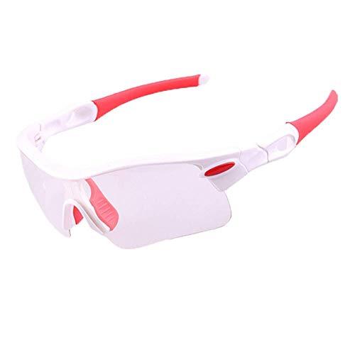 BJYG Sport-Sonnenbrillen Radfahren Brillen Sonnenbrillen Reisen Fahren Windschutzscheibe Outdoor-Sportarten Mountainbike Brillen Tennis Badminton Sport-Sonnenbrillen Schutz Fahrrad Farbe und Nach