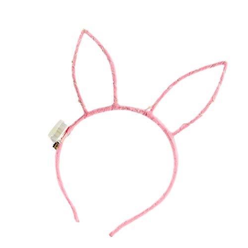 UEVOS Haarschmuck Damen Tiara Heller blinkender leuchtender Häschen-Haarband Flexibles LED-Club-Party-Konzert Headwear
