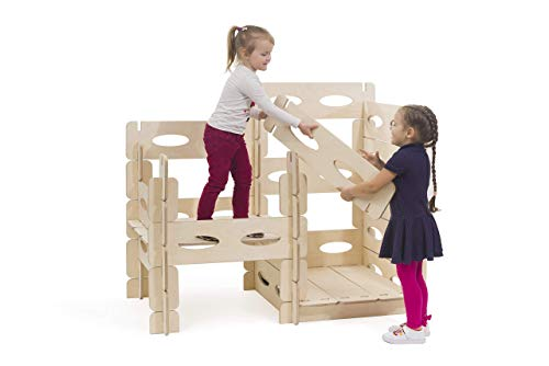 KateHaa Build & Play Montessori wooden playhouse set for kids outdoor indoor Costruisci e gioca Montessori casetta di legno per bambini colorata all'aperto coperta