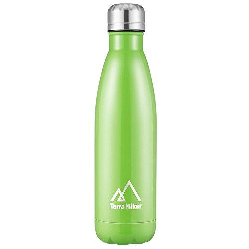 Bottiglia del'Acqua, Terra Hiker Bottiglia Termica, 500ml, Borraccia in Acciaio INOX, BPA...