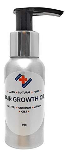 HUILE DE CROISSANCE DES CHEVEUX - Huile de RICIN, ARGAN & COCO FRACTIONNÉE - 50 ml - par NATURE'S INTERVENTION. 100% Pur, Naturel. Sans parfum ajouté. Favorise naturellement la croissance des cheveux