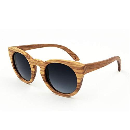 Easy Go Shopping Vintage Wooden Glasses Polarized Outdoor Sonnenbrillen für Frauen Männer Sonnenbrillen Sonnenbrillen und Flacher Spiegel (Farbe : Grey Gradient)