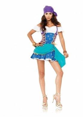 Sexy Zigeunerin Prinzessin Kostüm - Größe XS