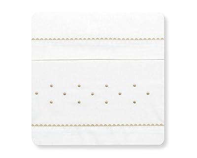 Sabanas 100% Algodón MAXICUNA 70X140 - Romantic Blanco/Lino (bajera+encimera+funda almohada)