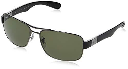 Ray Ban Unisex Sonnenbrille RB3522, Mehrfarbig (Gestell: Gunmetal, Gläser: Polarized Grün Klassisch 004/9A), X-Large (Herstellergröße: 64)