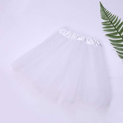 Dancewear & Kostüm - LIANGchueng Sturdy Baby Girls Kids Baby Children Tutuuskirt Party Kostüm Ballet Dancewear(None White)