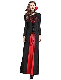 c5946f8ae443 LvRaoo Costume da Strega da Donna per Halloween Masquerade Costume Regina  dei Vampiri