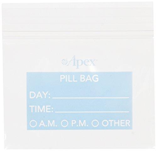 Pill Taschen, 50 wiederverschließbare Beutel - Apex