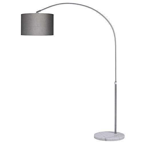 Monzana Bogenlampe 133-180cm Höhe Ø25cm Stoffschirm Bogenleuchte Marmorfuß Fußschalter Bogenstandleuchte Stehleuchte