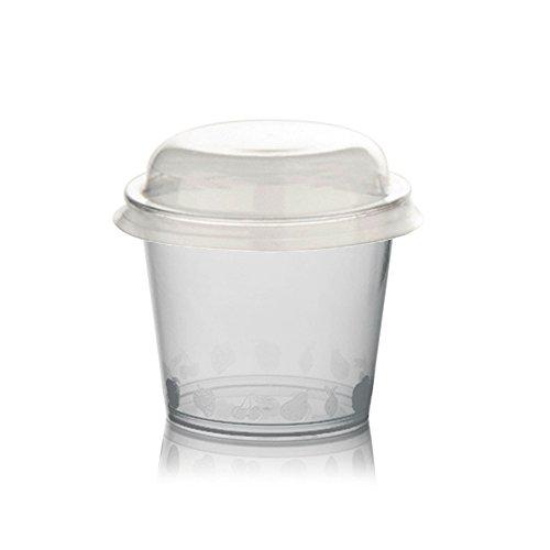 PZ 200 coupelles de plastique CC 150 + couvercle pour MacEdonie yaourt et glaces transparentes colorées Plastic Cup For ICE CREAM