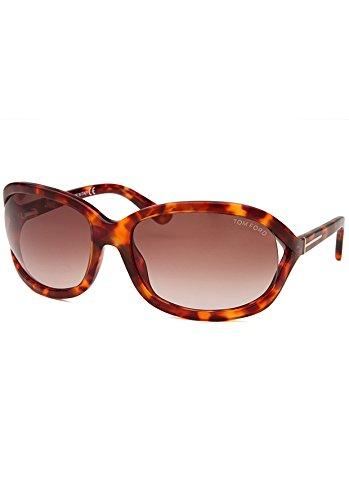 Tom ford occhiali da sole da donna 0278 vivienne - 47f: tartaruga marrone chiaro