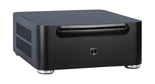 Galleria fotografica Inter-Tech Mini ITX E-W80S Desktop 60W Black computer case - computer cases (Desktop, PC, Aluminium, Mini-ITX, Black, Home/Office)