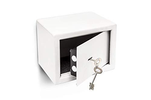 Relaxdays 10010086 Mini Caja Fuerte Hecho de Acero Cromado con Medidas 23 x 17 x 17 cm cerrojos Seguridad...