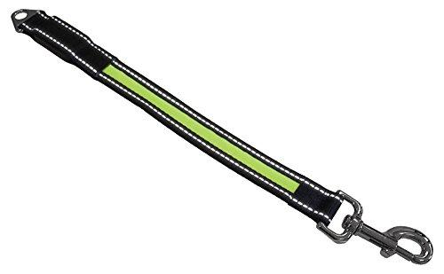 Nobby LED Leinenverlängerung 'FLASH' gelb L: 38 cm; B: 25 mm
