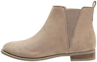 Anna Field Ankle Boots Mujer Beige, coñac O. Negro, unifarben–Botines en color marrón y plano–Chelsea Boots elegante–Corta de vástago Botas cálido