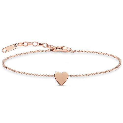 Lachesis Damen Herz Armband, Zarte Armkette Damen Armbändchen Frauen Armkette mit Herz Anhänger und Schmuckschachtel Freundin/Frau Geburtstag Liebe
