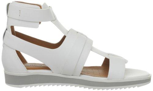 Geox - D Dandelion A, Sandali alla moda Donna bianco (Blanc (C1000))
