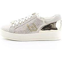 LIU JO Sneakers B18019T2030 10602 rose con strass pieni fdo a cassetta in  pelle e ef5a4cee5ff