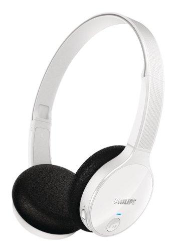 Philips SHB4000WT/00 - Auriculares de diadema cerrados Bluetooth (Bluetooth, control remoto integrado, 32 mm neodimio), color blanco
