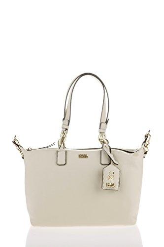 Karl Lagerfeld , Sac pour femme à porter à l'épaule beige Crème