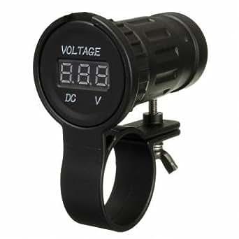 12-24v moto voltmètre numérique affichage LED jauge compteur volt mesure de tension